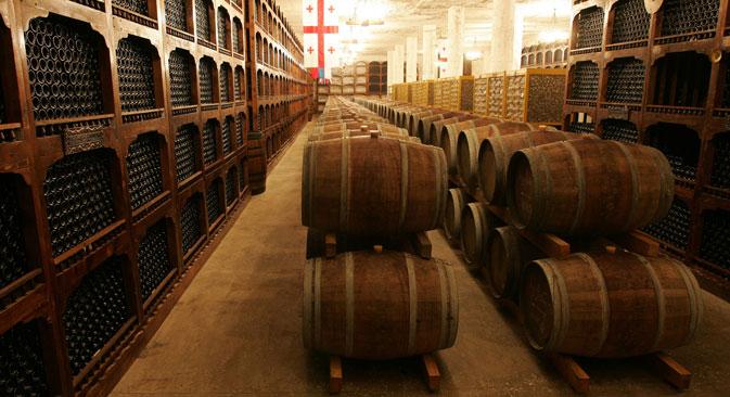 I produttori georgiani di vino hanno calcolato che possono fornire 10 milioni di bottiglie alla Russia (Foto: PhotoXPress)