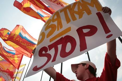 Anche la piazza chiede misure contro la corruzione (Foto: AFP / EastNews)
