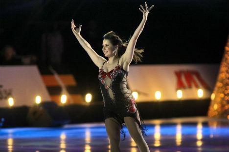 La pattinatrice Irina Slutskaya, la prima atleta russa ad aggiudicarsi un titolo europeo (Foto: Itar-Tass)