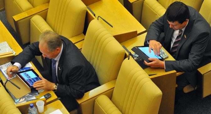 """La """"diplomazia digitale"""" sta diventando popolare tra i funzionari pubblici russi. Anche il Ministero russo degli Esteri ha aperto un account su Twitter (Foto: Kommersant)"""