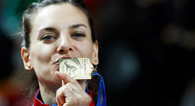 La campionessa russa Elena Isinbayeva (Foto: Reuters / Vostock-Photo)