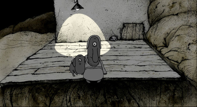 """""""Most v nujnuiu storonu"""" (Il ponte verso la buona riva) di Ivan Maksimov ha ricevuto il premio come migliore sceneggiatura (Foto: Festival del cinema d'animazione)"""