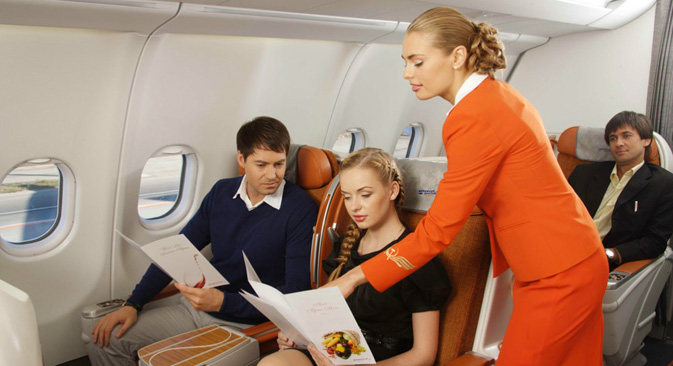 Hostess di Aeroflot in divisa (Foto: Ufficio stampa)