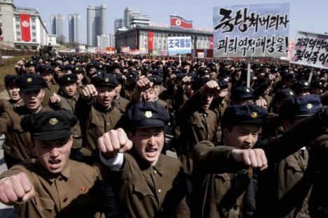 La Corea del Nord festeggia l'anniversario della nascita di Kim Il Sung il 15 febbraio 2013 (Foto: AP)