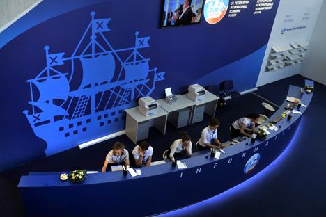 Il Forum di San Pietroburgo per importanza viene equiparato all'appuntamento di Davos (Foto: Itar-Tass)