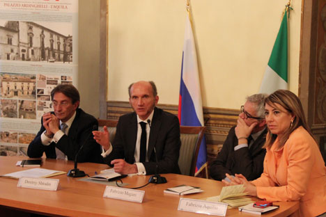 L'incontro sull'amicizia Russia-Abruzzo al Centro Russo di Scienza e Cultura di Roma (Foto: Ufficio Stampa)