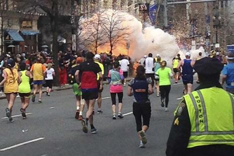 Tres personas murieron en el atentado en la maratón de Boston. Fuente: Reuters/Vostock Photo.