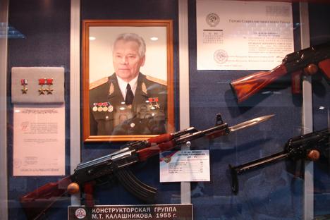 All'interno del Museo Kalashnikov di Izhevsk (Foto: Alexei Karelski)