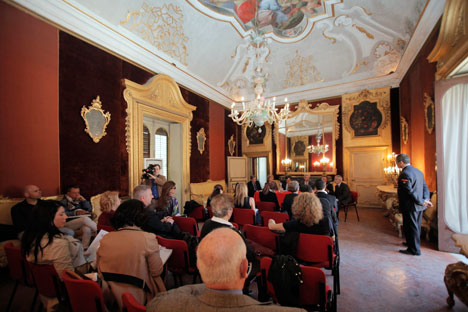 """La conferenza stampa di presentazione della manifestazione """"Primavera russa"""" a Villa Niscemi di Palermo (Foto: Francesco Malavolta)"""