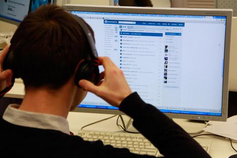 La musica gratuita è una delle caratteristiche principali del social network russo Vkontakte (Foto: Russia Oggi)