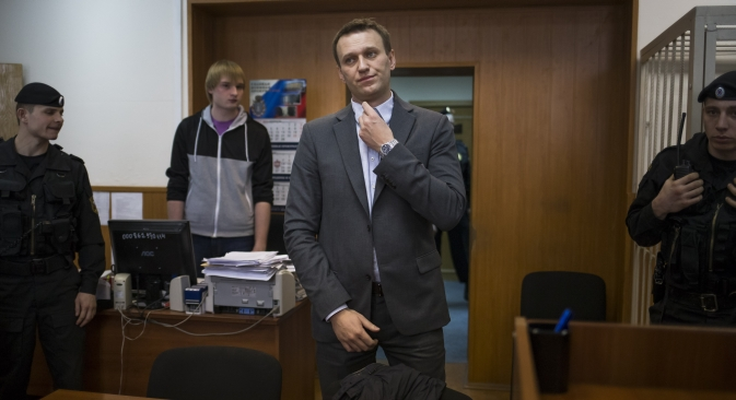Il capo dell'opposizione Alexei Navalny, al centro, ha annunciato l'intento di correre per le presidenziali del 2018 (Foto: Ap)