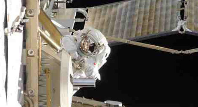 Il nuovo equipaggio della Stazione Spaziale Internazionale il 29 marzo 2013 ha raggiunto la navetta spaziale con un volo durato solamente poche ore (Foto: Nasa)