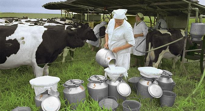 I prodotti biologici stanno avendo un grande successo in Russia (Foto: RIA Novosti / Valery Shustov)