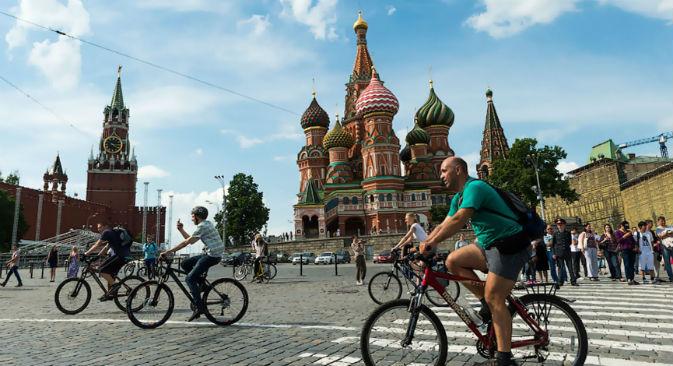 A Mosca c'è la possibilità di prendere in prestito gratuitamente una bicicletta (Foto: RIA Novosti)