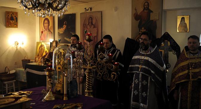 Nella parrocchia di Nelidovo, vicino Tver (Foto:Mikhail Mordassov / Focus Pictures)