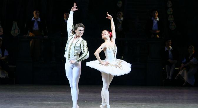 Una rappresentazione del Don Chisciotte portata in scena dai ballerini del Mariinskij di San Pietroburgo (Foto: N. Razina)