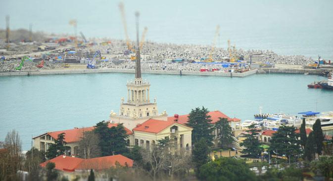 Il porto di Sochi (Foto: Mikhail Mordasov)