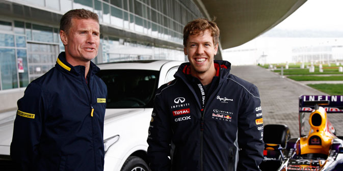 Sebatian Vettel e David Coulthard a Sochi (Foto: Vladimir Anosov)