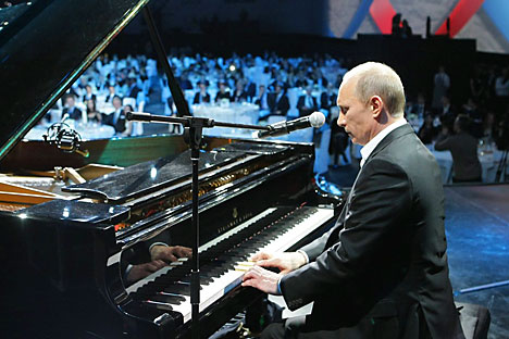 "Vladímir Putin canta ""Blueberry hill"" (Foto: Reuters)"