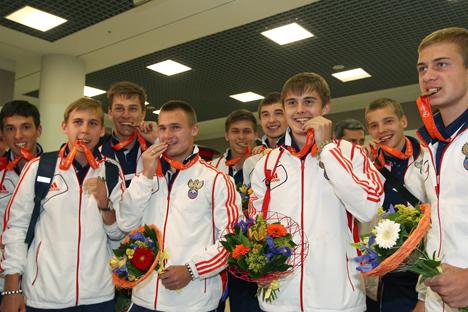 La Nazionale di calcio russa Under 17 vittoriosa nella finale degli Europei sugli italiani (Foto: Ria Novosti)