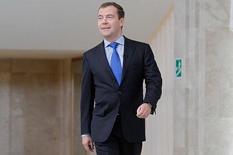 Il primo ministro Dmitri Medvedev, in carico a capo del governo dal maggio 2012 (Foto: Reuters)