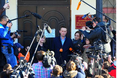 Il blogger Alexei Navalny, leader dell'opposizione, è sotto accusa (Foto: Itar-Tass)