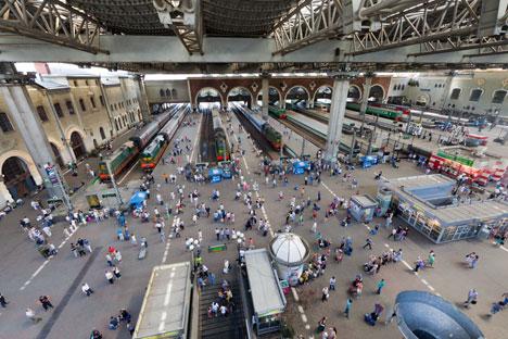 La stazione Kazansky di Mosca (Foto: Itar-Tass)