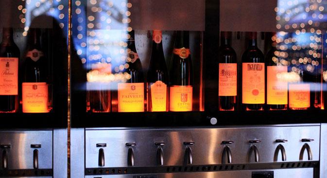La vetrina di un wine bar a Mosca (Foto: www.thewinebar.ru)