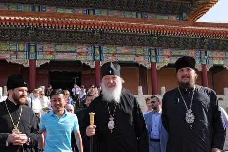 Il Patriarca Kirill durante la sua prima visita in Cina (Foto: Ria Novosti)