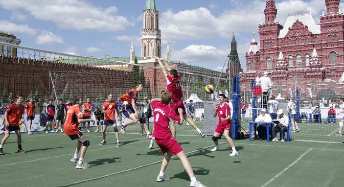 Una manifestazione sportiva in Piazza Rossa (Foto: PhotoXPress)