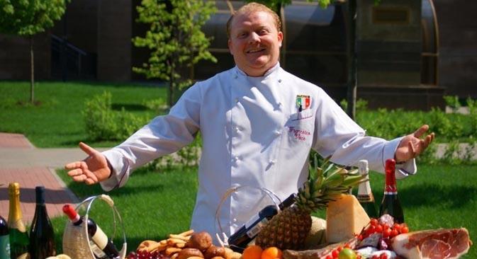 Lo chef calabrese Francesco Voce, da una decina di anni in Russia (Foto dall'archivio personale)