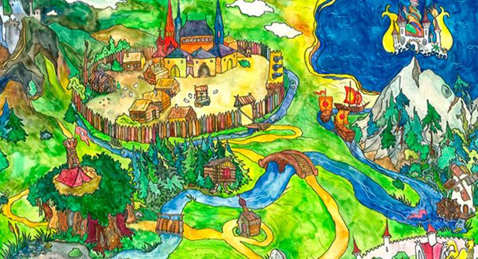 Nel regno delle fiabe russe (Vignetta di Anna Perepechenova)