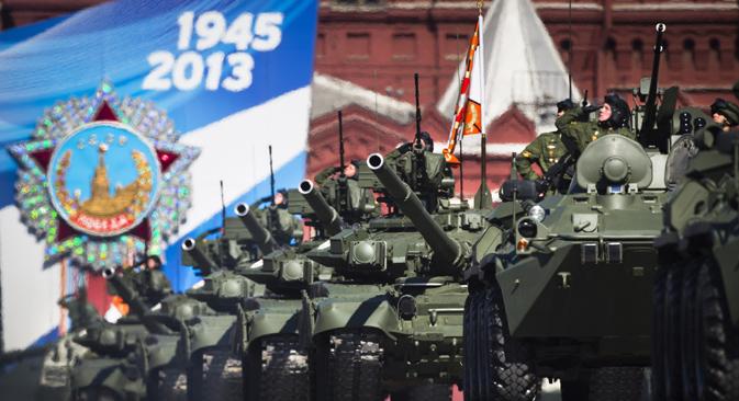 La parata militare del 9 maggio in Piazza Rossa a Mosca (Foto: Ap)