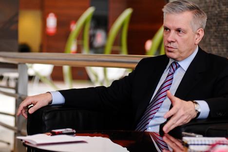 Il capo del Servizio federale per il controllo veterinario e fitosanitario della Russia Sergei Dankvert (Foto: Monique Lapa)