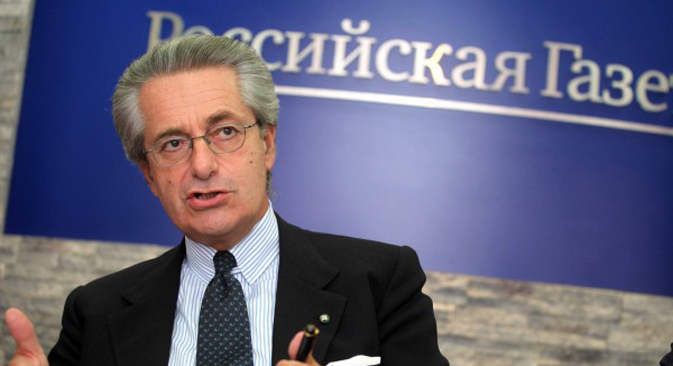 L'ambasciatore italiano a Mosca Antonio Zanardi Landi ospite della redazione di Rossiyskaya Gazeta (Foto: Olesya Kurpyaeva)