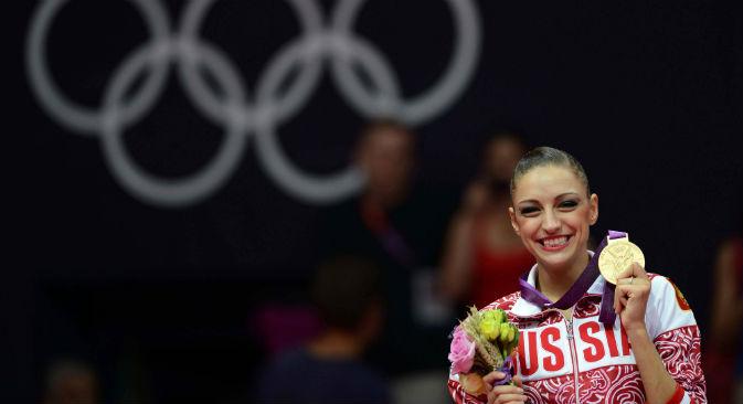 La ginnasta russa Evgenia Kanaeva (Foto: AFP / East News)