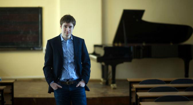 L'italiano Emanuel Rimoldi, studente al Conservatorio di Mosca (Foto: Aleksandr Utkin / RIA Novosti)