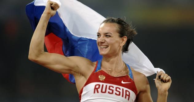 Die russische Stabhochspringerin Jelena Issinbajewa verabschiedet sich bei der Weltmeisterschaft in Moskau vom Leistungssport. Foto: AFP / East News