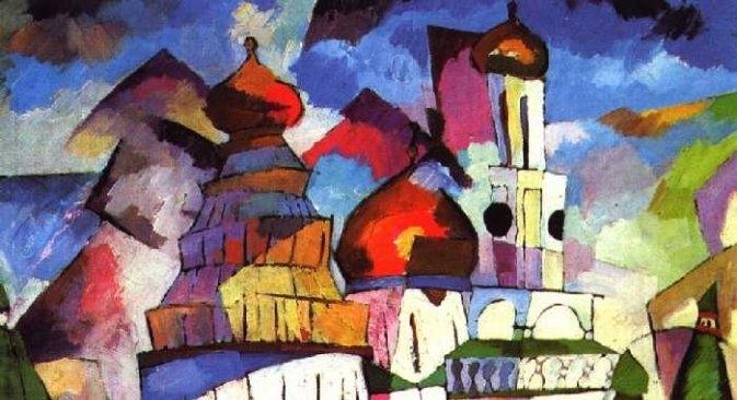 """L'opera """"Chiese. Nuova Gerusalemme"""" di Aristarkh Lentulov (Fonte libera)"""