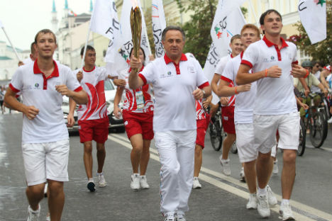 Al centro, il ministro dello Sport della Federazione Russa Vitaly Mutko (Foto: Itar-Tass)