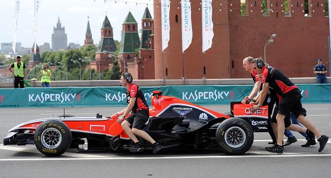 Il team anglo-russo di Formula 1 Marussia  (Foto: Itar-Tass)