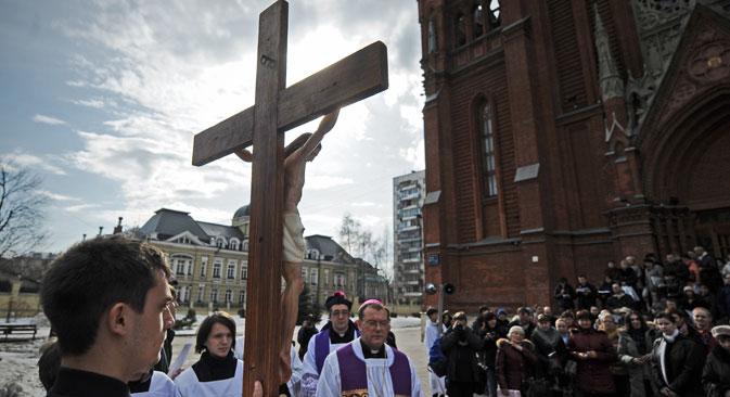 L'arcivescovo dell'Arcidiocesi della Madre di Dio a Mosca, Paolo Pezzi (Foto: Itar-Tass)
