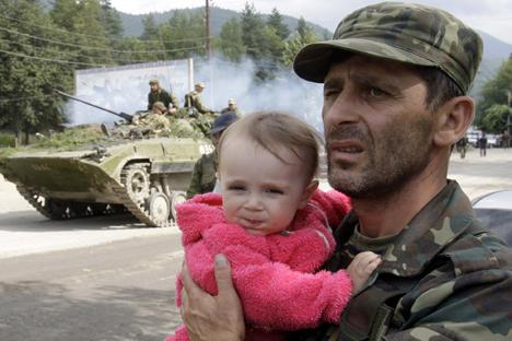 Nell'agosto 2008 l'offensiva della Georgia contro l'Ossezia del Sud portò a un'intervento militare della Russia che si contrapponeva a Tbilisi (Foto: Reuters)