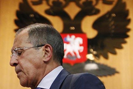Il ministro russo degli Esteri Sergei Lavrov è fermamente convinto dell'inutilità di un intervento di forza in Siria (Foto: Reuters)