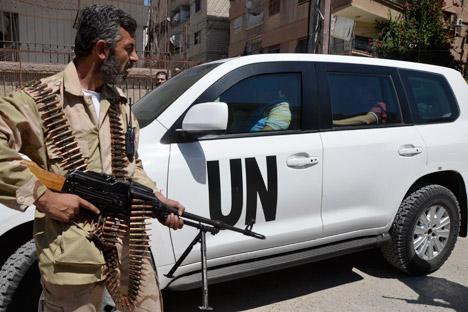 Secondo gli esperti russi, il vero scopo del possibile attacco da parte degli Stati Uniti in Siria servirebbe per indebolire le forze armate del governo locale e consentire la vittoria dell'opposizione armata (Foto: Reuters / Bassam Khabieh)