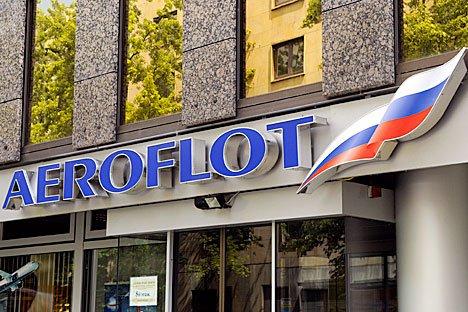 L'ingresso della sede della compagnia aerea russa Aeroflot (Foto: Vostock photo)