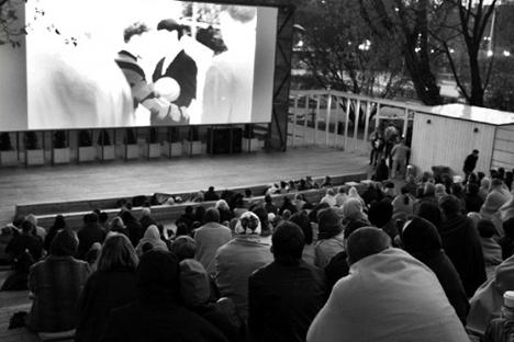 Il cinema all'aperto al Parco Gorky di Mosca (Foto: park-gorkogo.com)