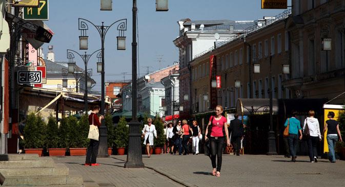 Nel 2012 Mosca ha ospitato un numero record di turisti, cinque milioni di persone. Gli esperti prevedono che la cifra aumenterà di altre 500.000 unità nel 2013 (Foto: Itar-Tass)