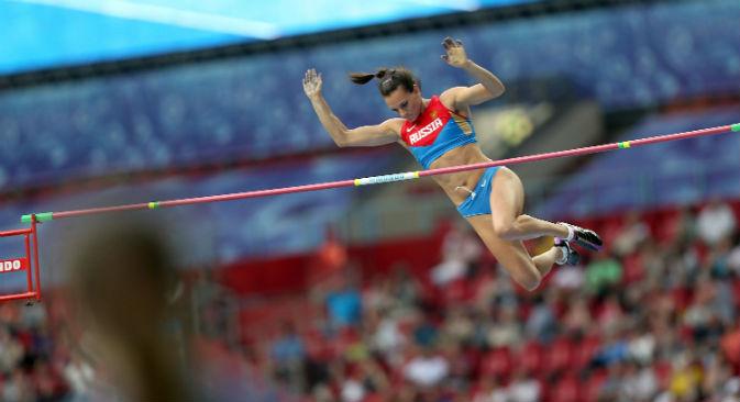 La campionessa russa Elena Isinbayeva (Foto: Itar-Tass)