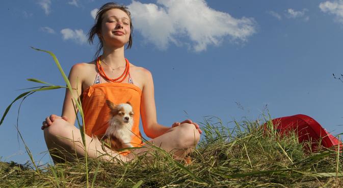 Lo yoga era già molto diffuso ai tempi dell'Urss (Foto: Alexey Kudenko / RIA Novosti)